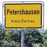 Ortsschild Petershausen
